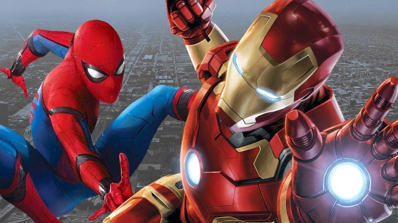 Человек-паук и железный человек спасают людей на корабле ...
