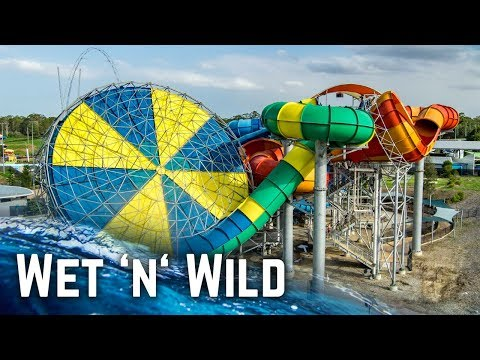 ALL WATER SLIDES at Wet 'n' Wild Sydney! (GoPro)