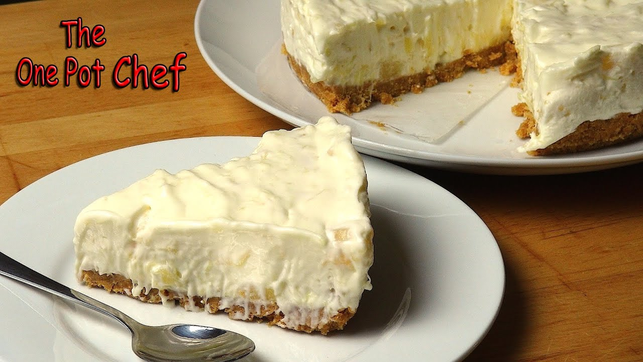 No Bake Pineapple Cream Cake One Pot Chef Youtube