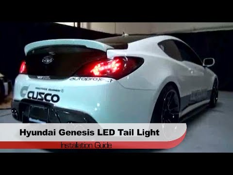 spyder auto installation 2010 12 hyundai genesis coupe led tail lights youtube. Black Bedroom Furniture Sets. Home Design Ideas