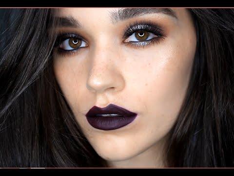 Dark Eyes Dark Lips Makeup Tutorial Youtube