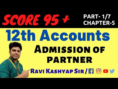 Admission of partner (part-1),chapter-4,Introduction Admission of Partner