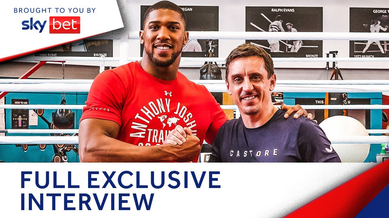 Download Anthony Joshua shares all in full interview & challenges Gary Neville in the ring | The Overlap