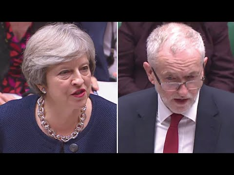 PMQs: jabs and jibes as May and Corbyn clash over universal credit