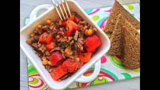 Салат с говядиной, фасолью и болгарским перцем