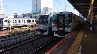 【JR東日本】E257系0番台JR総武快速線錦糸町駅発車