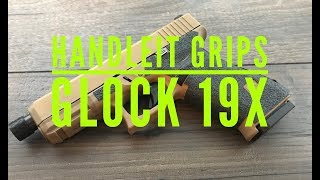Handleit Grips grip enhancement installation on the Glock 19x
