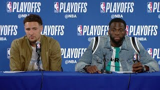 Draymond & Klay Thompson Postgame Interview | Pelicans vs Warriors - Game 1 | 2018 NBA Playoffs