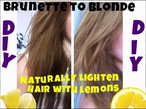 diy naturally lighten your hair with lemons brunette to