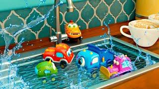 Новые мультики про МАШИНКИ для детей - Мокас. Немытая посуда