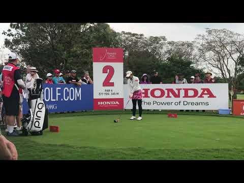 Honda LPGA Thailand 2018 Pornanong Phatlum's golf swing at Siam Country Club Pattaya Old Course