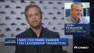 Nike ceo mark parker discusses why he's leaving the role at company in january to become executive chairman. servicenow john donahoe will tak...