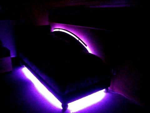 led 39 s unterm bett youtube. Black Bedroom Furniture Sets. Home Design Ideas