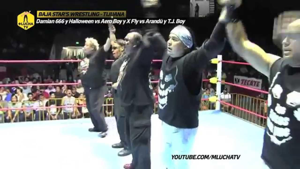 Familia de Tijuana vs Aero Boy y X Fly vs Locos del Ring, en Tijuana.