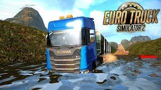 Estradas Perigosas - Estrada Alagada - EURO TRUCK SIMULATOR 2 #14