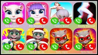Fake Call - My Angela,My Angela 2,Twerk Blast,Booty Dance,Tom Friends,Talking Tom Hero Dash