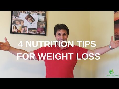 NUTRITION FOR WEIGHT LOSS - 4 Tips to lose weight without dieting!