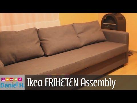 Slaapbank Ikea Friheten.Ikea Friheten Sleeper Sofa Assembly Guide Sofa Bed 3 Youtube