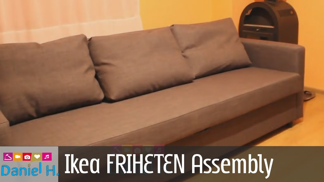 Ikea schlafcouch friheten  Ikea FRIHETEN Sleeper sofa Assembly Guide - Sofa bed 3 - YouTube