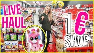 Ich darf NACHTS ALLEINE einen 1€-Shop LEER KAUFEN😱 LIVE HAUL | XLAETA