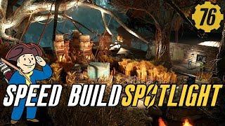 Fallout 76 Swamp Farm Speed Build! Settlement Spotlight 13 #Fallout76