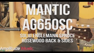 Quick Playthrough Mantic AG650SC Solid Top Acoustic