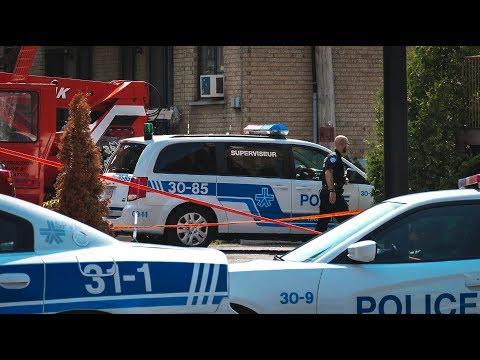 Les policiers font feu sur un homme / Saint-Michel – RAW FOOTAGE