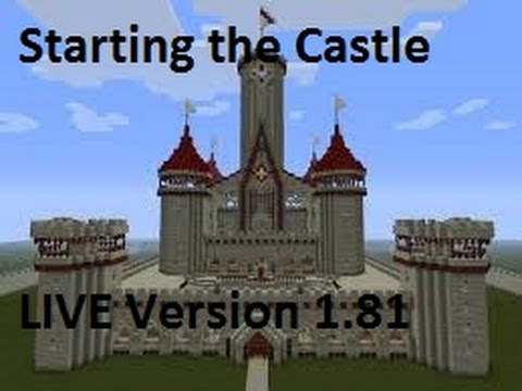 "Minecraft: Starting the Castle on the Private Server Live "" Version 1.81"""