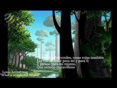 What A Wonderful World - Louis Armstrong (Letra en español) (HQ Audio)