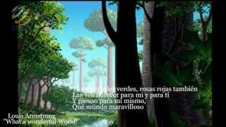 What A Wonderful World - Louis Armstrong (Letra en español) (HQ Audio)
