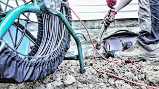 Quick repair of broken sewer pipe