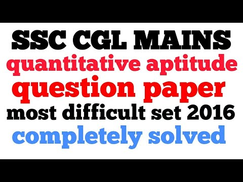 ssc cgl mains question paper (previous  year question paper)