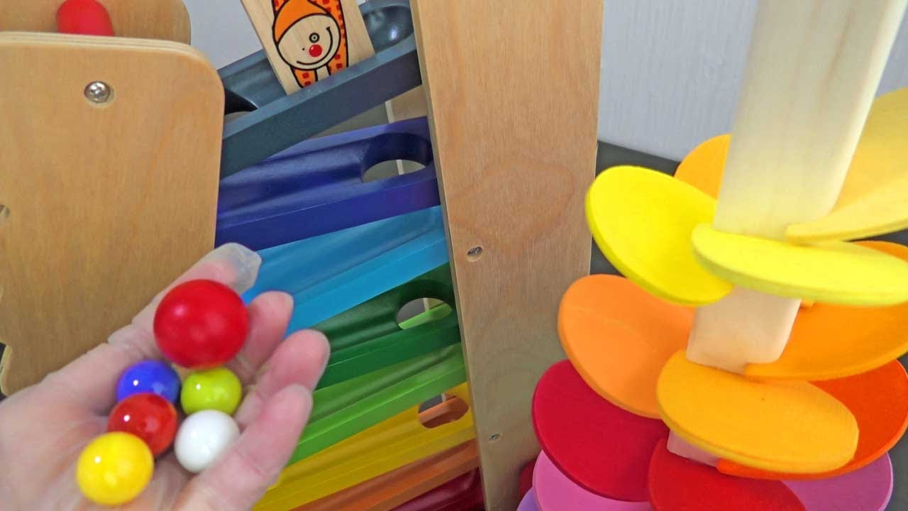 Wooden Marble Run Lace [ASMR] Colorful Tree