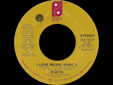 The O Jays I Love Music 1975 Disco Purrfection Version Youtube
