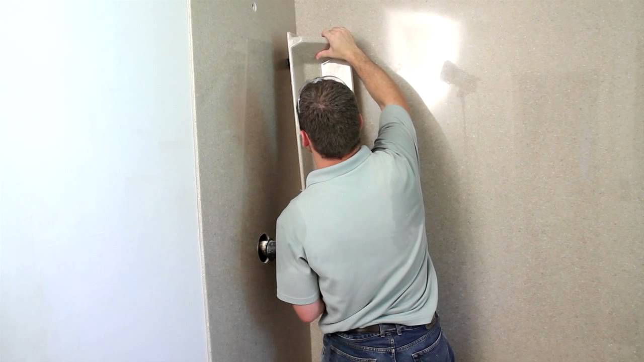 Onyx Shower Installation - Tall Corner Caddy - YouTube