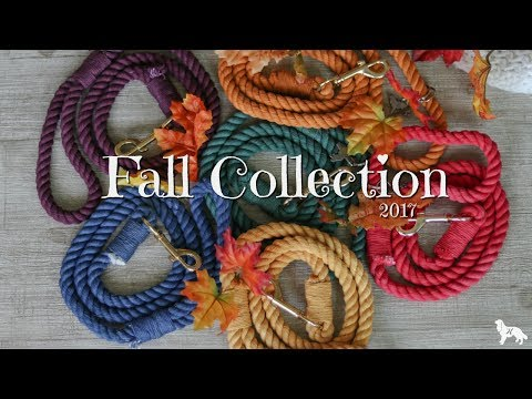 FALL COLLECTION ROPE LEASHES | Herky the Cavalier