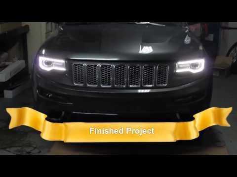 2014 Jeep Grand Cherokee Headlight Swap 100% Working (Halogen to H.I.D. ,L.E.D.)