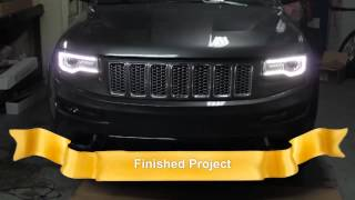 2014 Jeep Grand Cherokee Headlight Swap 100% Working (Halogen to H.I.D. ,L.E.D.)
