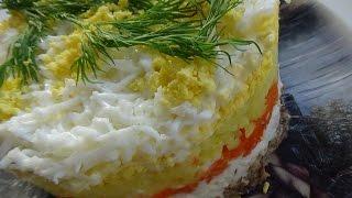 салат Мимоза + 3 варианта заправки салатов