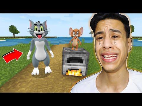 لقد وجدت توم وجيري في ماين كرافت  | I found Real Tom and Jerry !! 🔥😱