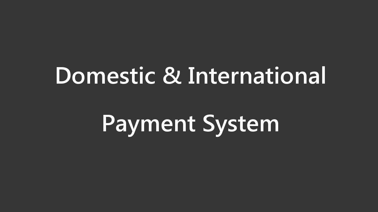 Flow of Money - Payment System - YouTube