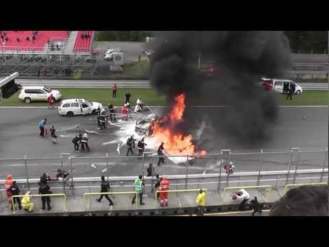 FIA GT Brno Lamborghini Gallardo Super Trofeo LP 560-4 Crash!