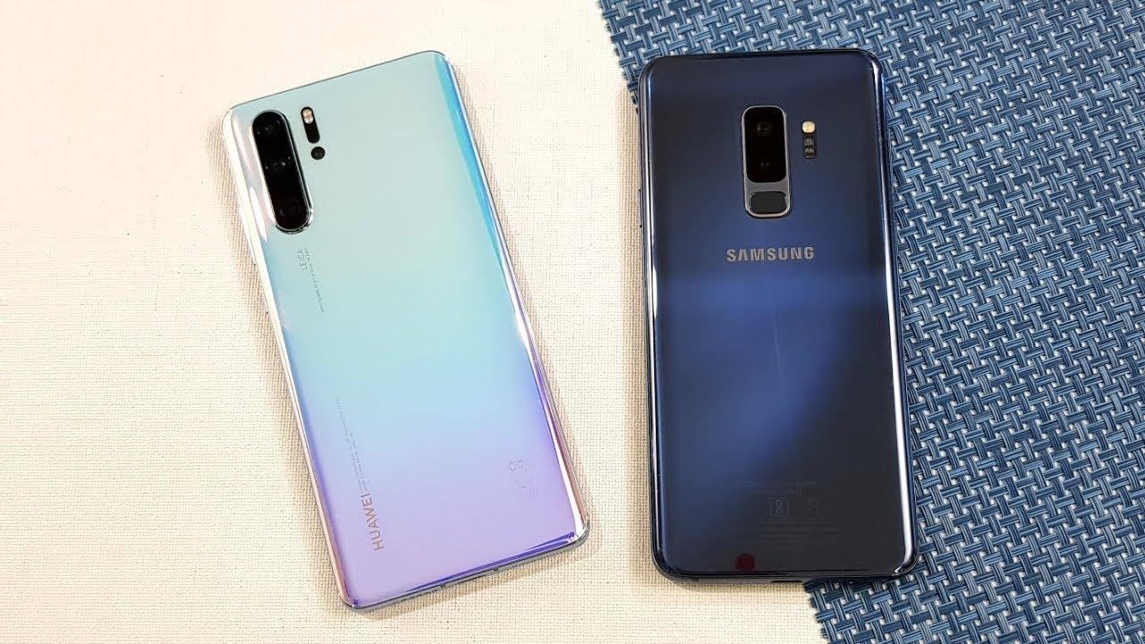 Huawei P30 Pro vs Samsung S9+ SpeedTest & Camera Comparison - YouTube