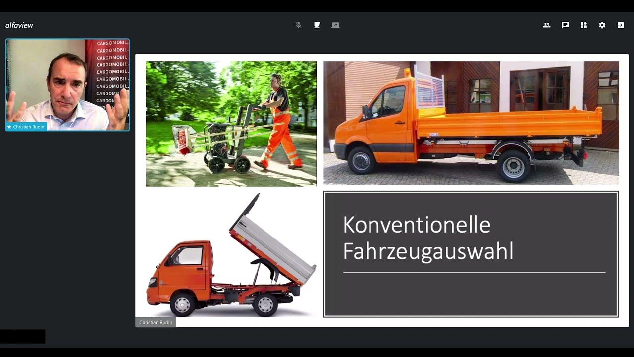 Christian Rudin stellt das CARGO M für den kommunalen Einsatz vor. (Suisse Public Smart)