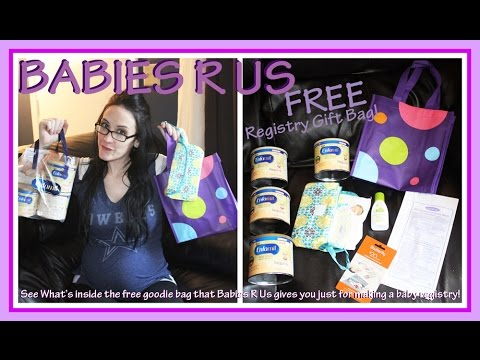 Babies R Us- Baby Registry Gift Bag- Whats Inside the FREE Bag ...