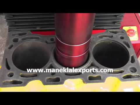Manek - Vertical Cylinder Boring Machine Model: 400 - YouTube