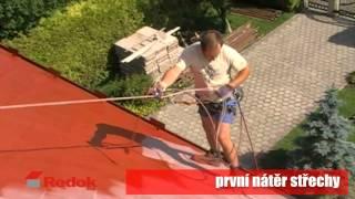 Nátěry střech - renovace eternitové střechy