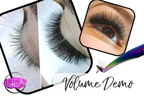 37d73e7f7d0 How to apply Russian Volume Eyelash Extensions- 4D Demo - YouTube