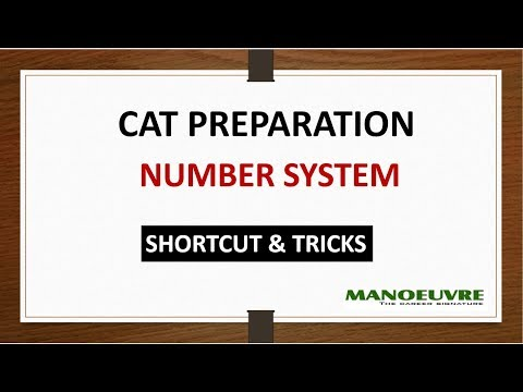 CAT PREPARATION NUMBER SYSTEM  (SHORTCUT &  TRICKS)