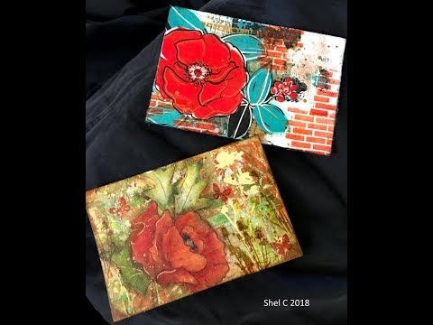 Part 2 Mixed Media Mail Art Collaboration - Springtime